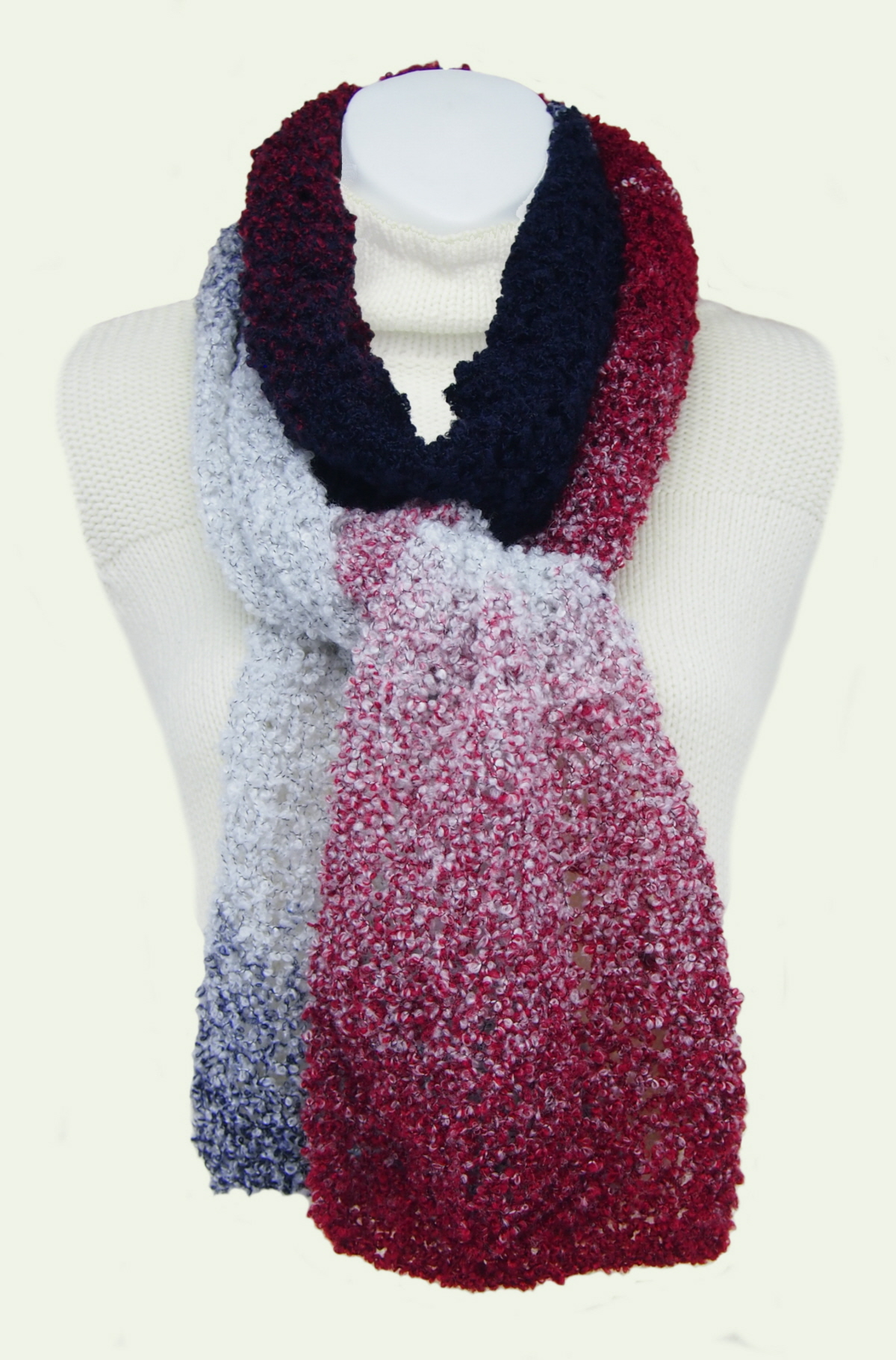 Sarongsetc Com Hand Knit Ombre Light Weight Boucle Scarves